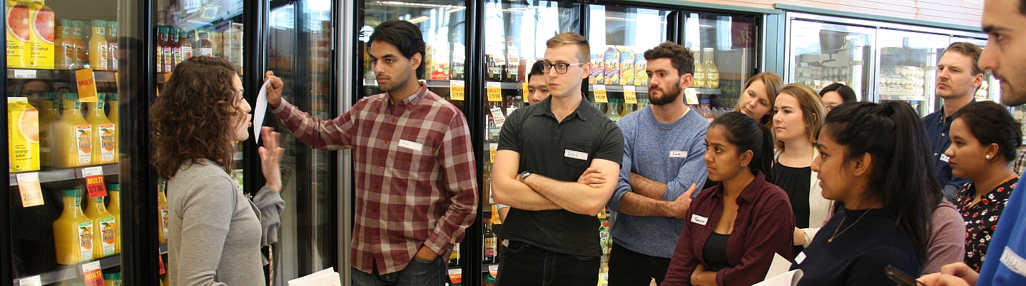 Medical students learn about nutrition at Loblaws