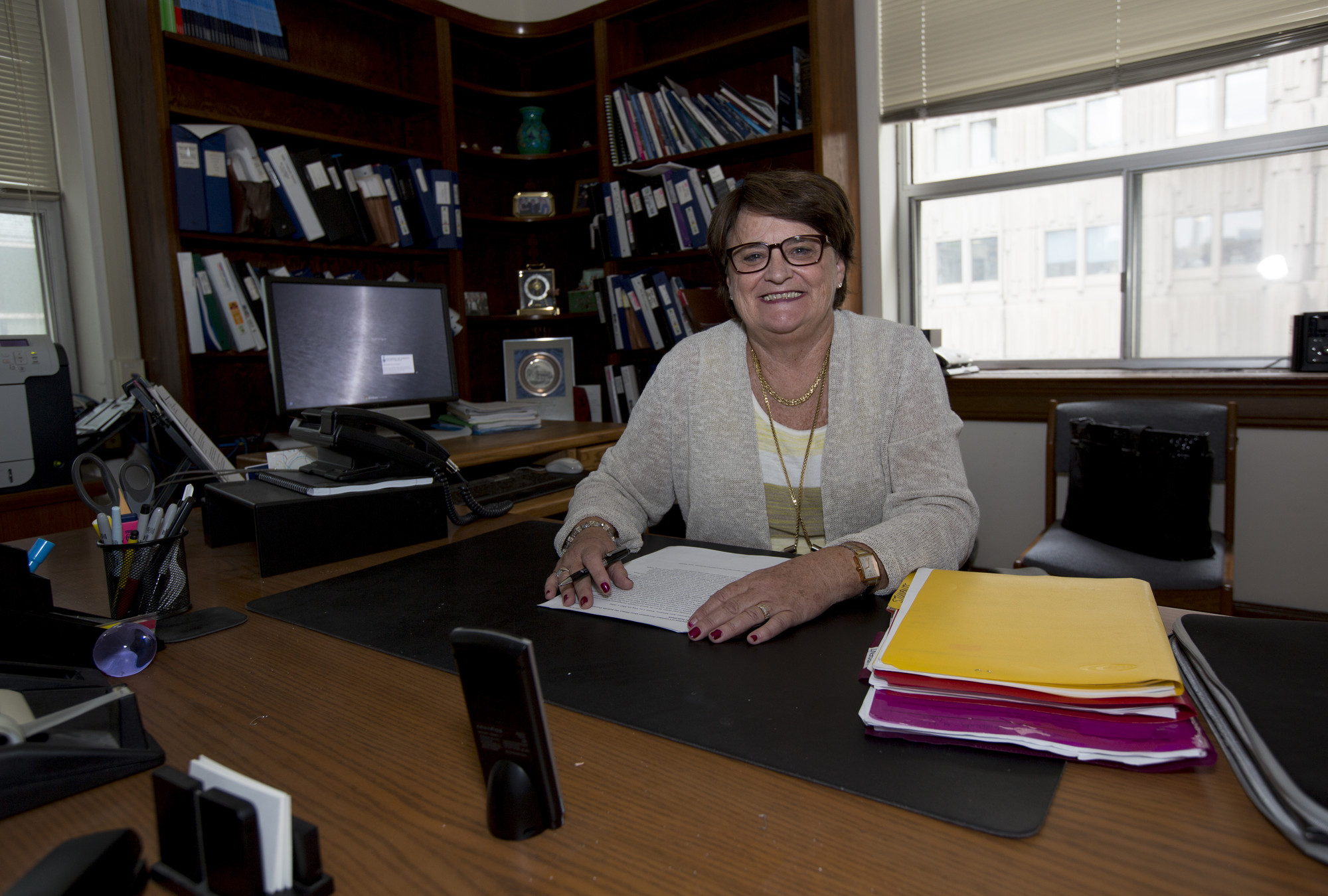 Photo of Mary L'Abbé in her office